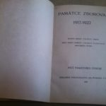 MEDEK, Rudolf a František SYŘIŠTĚ. Památce Zborova 1917-1927.